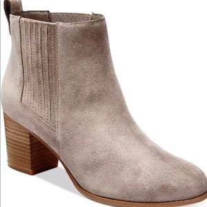 INC Women's Fainn Ankle Booties Boots Warm Taupe